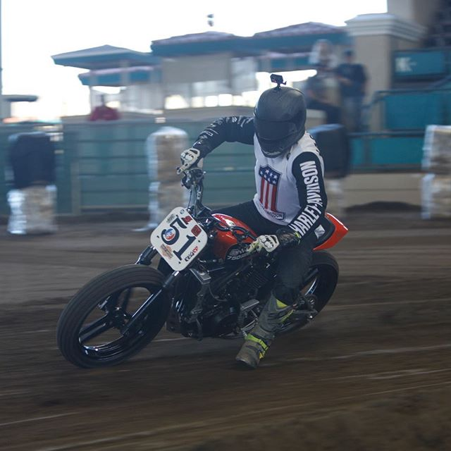 More racing continues today at Del Mar @ivleagueflattrack Come out and #supporttheindependents #harleydavidson #hooliganracing. SM team riders @fuzzyfonz (pictured) @wiggzero9 @fastjs and @fuhka_wot will be there. Photo by @tsdvision