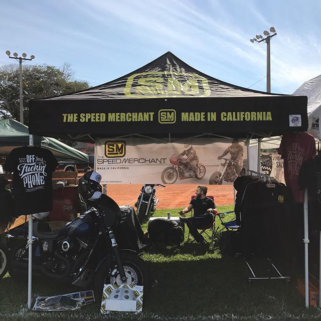 We're all set up out here at the 11th Annual Dania Beach Vintage Motorcycle Show. Stop by if your in South Florida. #supporttheindependents #daniabeachvintagemotorcycleshow #speedmerchantmiamidivision